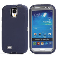 Tire Robot Hybrid Heavy Duty Rugged Shockproof Hard plastic Soft Silicone Case Skin Cover para Samsung Galaxy S4