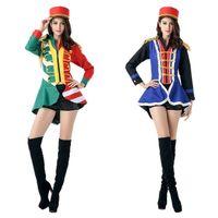 Wholesale Women S Bar Uniforms - Halloween female uniform COS role playing music team clothing nightclub bar stage costumes