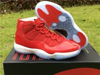 Wholesale Real Discount - Wholesale discount retro 11S Gym Red top quality real carbon fibre men basketball shoes with originals box size eur 41-47 free shipping