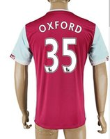 Wholesale West 12 Wholesale - 2016 West Ham Home Red 35 OXFORD Thai Quality Customized Soccer Jerseys Shirts TOPS,10 ZARATE Football Jerseys,12 JENKINSON Soccer WEAR