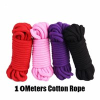 Wholesale Cotton Bondage Rope - Adult Sex toys 10 Meters Cotton Rope Adult Sex Game BDSM Bondage Flirting Adult Sex Product