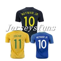 b4845743231 Soccer Men Short 17 18 Brazil National Home away Black Soccer Jerseys  Camisa de futebol Neymar