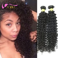 Wholesale Long Curly Human Weave - Unprocessed Virgin Curly Wave Full Cuticles Long Lasting Curly Human Hair Extensions DHL Free Shipping XBLHair