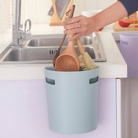 Wholesale Cabinet Desk Organizers - Self-adhesive European home storage box cabinet door Back trash can waste bin Sundrie container home Desk Organizer