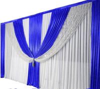 cortina púrpura de la boda al por mayor-2017 nueva llegada telón de fondo de la boda púrpura cortina con swag wedding drap party party hotel boda escenario decoración de fondo