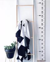 ingrosso adesivo a parete di crescita ad altezza-Altezza dei bambini Altezza del righello Decorazione INS semplice Per bambini adulti Crescita Dimensioni Grafico Misurazione Righello Wall Sticker regalo decorativo per la casa