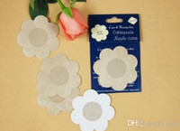 Wholesale Ladies Sexy Breast - Free Shipping Women Lady Sexy Disposable Cubrepezon Nipple Cover Patch Breast Nipple Pad Petals