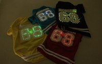 Wholesale Halloween Led Shirts - 2016 Sale Rushed Dog Costumes Sweaters & Sweatshirts Coats, Jackets & Outerwears Fashion Newest Pet Dog Clothes Led Colorful Light Shirts