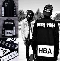 новая одежда hba оптовых-Новый мужской капот по воздуху с длинным рукавом футболки человек HBA хип-хоп футболки были Трилл печатных футболки мужчины Camisetas одежда