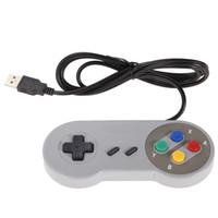 ingrosso controller usb per ps2-Retro gioco per SNES USB Wired Classic GamePad Joystick Controller per Windows PC Sei pulsanti digitali 50pcs / lot DHL