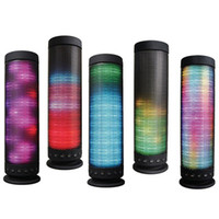 Wholesale Fastest Audio Player - High Quality Portable Outdoor Home LED Light Dance 360 Degree Stereo Bluetooth 4.0 Wireless Speaker DHL Fast Shipping