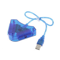 Wholesale Ps2 Controller Converter - 2016 Joypad Game USB Dual Player Converter Adapter Cable For PS2 Attractive Dual Playstation 2 PC USB Game Controller Wholesale