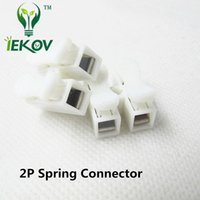Wholesale Wire Connector Block - 100pcs 2p Spring Connectors wire with no welding no screws Quick Connector cable clamp Terminal Block 2 Way Easy Fit for led strip