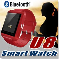 Wholesale Edging Male - U8 Smart Watch Bluetooth GT08 DZ09 Smartwatch Wrist Watches for iPhone 6 6S Plus Samsung S7 edge Note 5 HTC Android Phone Smartpho OTH014