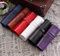 PU Pencil Bag Yes PU School Pen Pencil Case Twilight New Moon Vintage Roll Make upCosmetic Bag Luxury Women Makeup Brush Organizer handbags Free Shipping