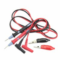 Wholesale Clip Multi Meter - Wholesale-Clamp Multi Meter Multimeter Probe Test Lead 20A 1000V + Alligator Clips