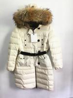 Wholesale White Parka Fur Hood - M109 parkas for women winter famous Women jacket anorak women coats with real fur hood parka women jackets