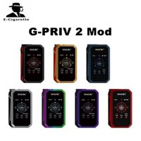 Wholesale Vape Screens - 100% Authentic SMOK G-PRIV 2 Mod 230W TC Vape Mod Power by Dual 18650 Batteries with 2 Inch Colorful Touch Screen Box Mod