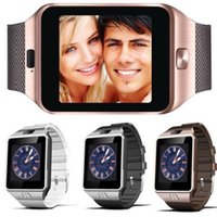 Wholesale Wholesale Track Phones - A+++ DZ09 Smart Watch Bluetooth smart bracelet Wristband dz09 watch SIM Intelligent mobile phone with sleep track support Android DHL Free