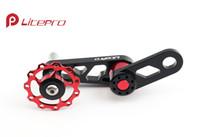 колеса переключения передач оптовых-Оптовая продажа-Litepro складной велосипед BMX цепи направляющее колесо CNC алюминиевый задний переключатель направляющее колесо для BYA412