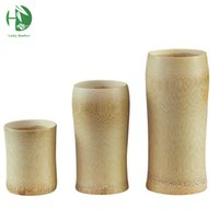 Wholesale Chinese Tea Mugs - Classic solid wooden mugs 150ml for tea coffee beer milk juice Chinese natural handmade cups vintage healthy water tableware