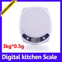Wholesale Best Pocket Scales - 3kg*0.5g pocket digital scale best digital kitchen scale high quality weighing scaleMOQ=1 free shipping