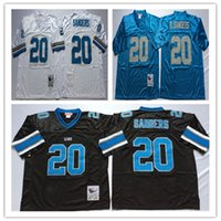 Retired Player Barry Sanders Jerseys Vintage 20 Barry Sanders Jersey Team  Color Blue Black White Throwback Stitched Jersey ... 2b3d06a6c