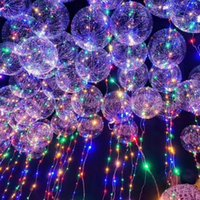 Wholesale Baby Shower Stars - kylie Christmas 18 24inch Clear Balloon with led strip Copper wire Pvc balloon for wedding birthday gift baby shower party layout