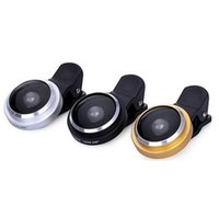Wholesale digital camera lens phone - New 235 Degree Super Fish Eye Lens Clip on For Digital Camera Mobile Phone Wholesale