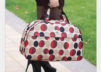 Wholesale Polka Dot Totes - Waterproof Travel Bag Women Tote Bag Large Capacity Women Duffle Bags Digital Printed Ladies Luggage Handbag Weekend Bags Bolsos de Mujer