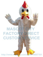 Wholesale Chicken Costume White - white chicken mascot costume custom cartoon character cosply adult size carnival costume 3130