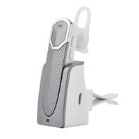 base para altavoz de iphone al por mayor-Fineblue Auricular Bluetooth Auricular Auricular Bluetooth Car Speaker phone con base de carga para teléfono iOS iOS En Embalaje al por menor