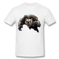 Wholesale Size 12 Men - Angry brown bear Tshirt 12 Colors Homme Pop Men's Create T Shirt Man O Neck Team T-Shirt Newest O Neck Plus Size S-6XL