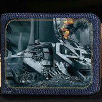 Wholesale Mass Card - Mass Effect wallet Game purse Customized photo short cash note case Money notecase Leather burse bag Card holders