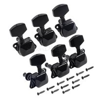 Wholesale tuner machine heads - Black Tuning Pegs Semiclosed Guitar String Tuners Machine Heads 3R3L