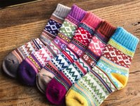 buy hot-hot - New Style Wool Socks Women Winter Thermal Warm Socks Female Crew Fashion Colorful Thick Socks Ladies Casual Sock