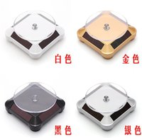 Wholesale Sell Turntables - Fashion Hot selling New Solar Rotation Turntable jewelry Display Plate Desinger Rotary Jewelry Showcase Stand Cheap Price