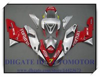 RED SILVER ВПРЫСКА BRAND NEW обтекателя KIT 100% FIT FOR YAMAHA YZF R1 YZF1000 1998-1999 YZFR1 1998 1999 YZF R1 98 99 # SX813