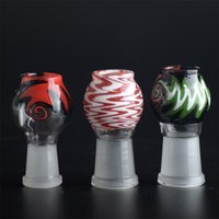 Wholesale Coloured Glass Balls - Reversal GLASS DOME Colour Ball shape oil rig dab 14.5mm or 18.8 famle joint for oil dab glass bongs T20