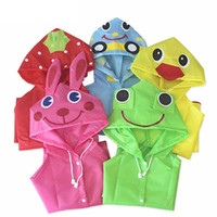Multicolor Kids Rain Coat Animal Style Crianças Impermeável Raincoat Rainwear unisex cartoon Kids Raincoats 30pcs / lot IC710