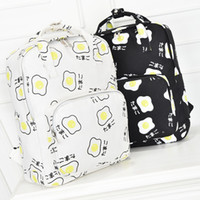Wholesale Egg Backpack - harajuku bags 2017 korean backpack new sport kawaii Japanese poached egg portable shoulder bag school bags schoolbag backpacks