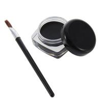 Wholesale Eyeliner Gel Pro - High Quality 2 Sets Black Pro Waterproof Eye Liner Eyeliner Shadow Gel Makeup Cosmetic + Brush Hot Selling