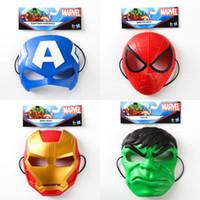 Wholesale Latex Cartoon Movies - Superhero masks Spiderman Avenger Spiderman Captain children kids Cosplay masks cartoon masks Superhero Party Cosplay Helloween Movie Masks