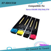 Wholesale Xerox Color Toner - Xerox DCC550 , Compatible Toner Cartridge for Xerox COLOR 550 560 570 , CT201702 - CT201705 ; BK - 30,000 C M Y - 34,000 pages