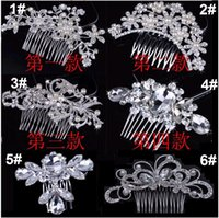 Wholesale butterfly hair comb wedding for sale - Bridal Hair Combs Head Pieces Tiara Rhinestones Pearl Flower Butterfly Brade Hairpin Hair Accessories for Wedding