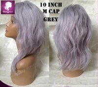Wholesale Dark Grey Long Wig - hot sale silver grey human hair wigs brazilian full lace grey hair wigs with baby hair