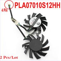 reemplazo del cojinete del ventilador al por mayor-Al por mayor-2 PC / porción PowerLogic PLA07010S12HH 65 MM 0.50A Ventilador de la tarjeta gráfica del cojinete de la larga vida para MSI 5770 6770 Twin Frozr II como reemplazo
