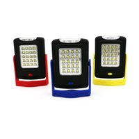 Wholesale Hook Magnet Led Flashlight - Portable 23 LED Night Light Flashlight LED Torch Lantern Work Light LED Camping Bicycle Lamp with Built-in Magnet Hook