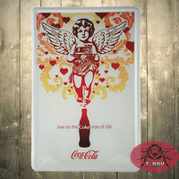 Wholesale Coke Signs - Christmas Decoration!!The coke Poster Tin Sign Bar Decor Wall Metal Painting F-27 mixed order 160909#