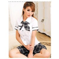 Wholesale Sexy Japan School Girl - Wholesale-Sexy Lady japan high school girl dress uniform adult costume full outfit cosplay free shipping